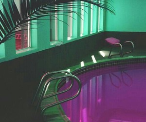 pool, purple, and green image