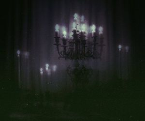 candles and eerie image