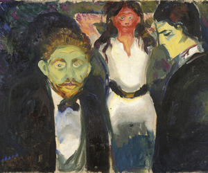 art, edvard munch, and jealousy image