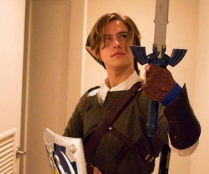 cole sprouse, cosplay, and link image