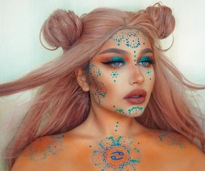 beauty, cancer, and Halloween image