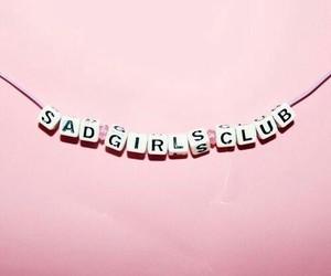 pink, girl, and sad image