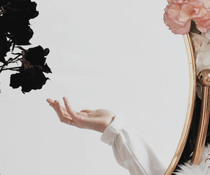 aesthetic, dark, and mirror image