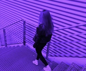 girl, purple, and aesthetic image