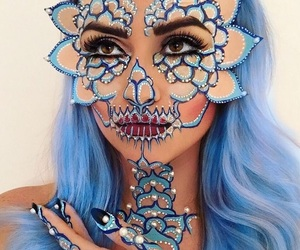 makeup, beauty, and Halloween image