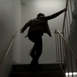 boy and stairs image
