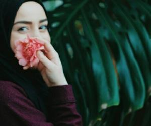 girl, smile, and hijab image