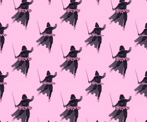 wallpaper, pink, and star wars image