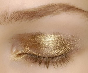gold, makeup, and make up image