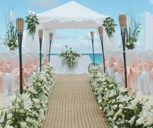 beach and wedding image