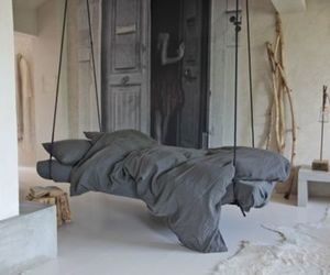 bed, interior, and bedroom image