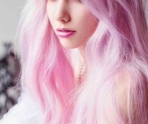 colored hair, hair, and rose image