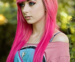 colored hair, pink, and hair image