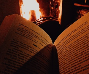 bonfire, book, and books image
