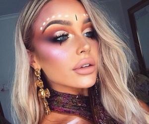 makeup, beauty, and coachella image