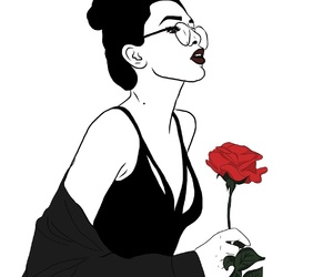 art, rose, and tumblr image