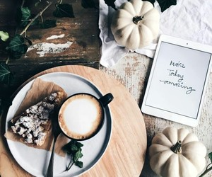 coffee, autumn, and pumpkin image
