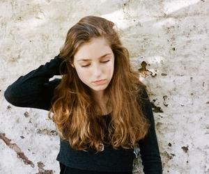 girl, sad, and thinking image
