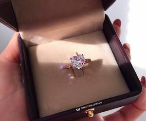 brilliant, ring, and diamond image