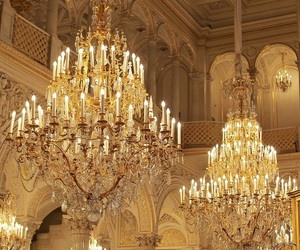 architecture, beautiful, and chandelier image