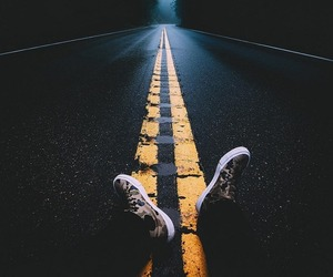 alone, scenery, and road image