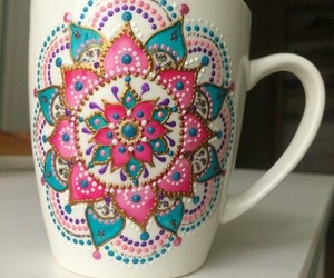 diy, mandala, and mug image