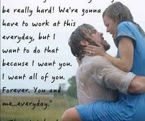 love, quotes, and notebook image