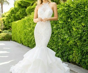 dress, wedding, and زفاف image