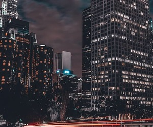 city, night, and wallpaper image