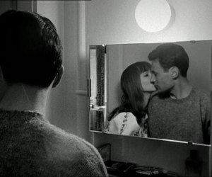 anna karina, couple, and black and white image