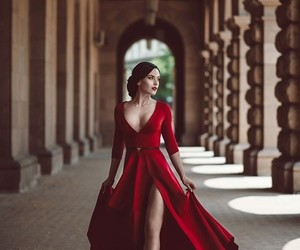 fairytale, fashion, and red dress image