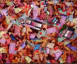 art, automne, and eyeshadow image