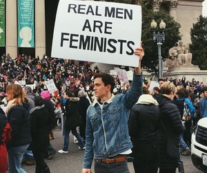 feminist, feminism, and men image