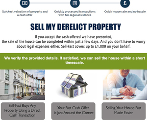 sell my house, sell house fast, and sell my derelict property image
