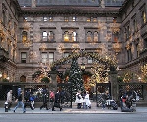 christmas, gossip girl, and new york image