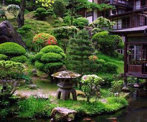 garden, japan, and japanese image