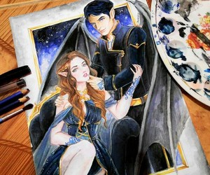 feyre, a court of wings and ruin, and rhysand image