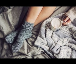 blankets, comfy, and grey image