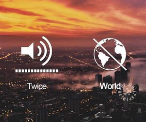 twice and world off image