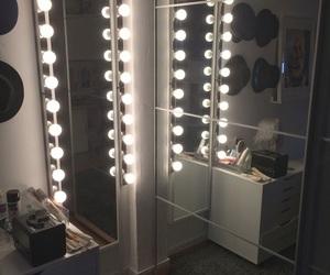 interior, mirror, and white image