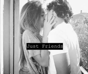 love, friends, and kiss image