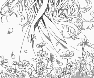 anime, girl, and long hair image
