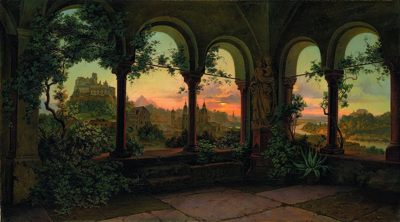 art, painting, and castle image