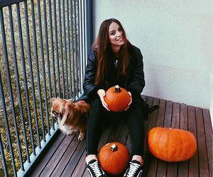 autumn, girl, and Halloween image