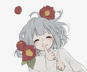 anime, flowers, and cute image