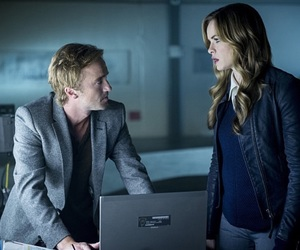 danielle panabaker, tom felton, and the flash image