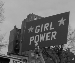 girl power, feminism, and black and white image
