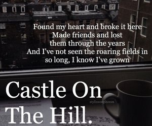 castle on the hill, divide, and music image