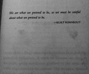 black, quotes, and kurt vonnegut image