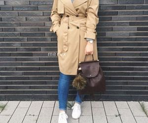 trench coat with hijab image